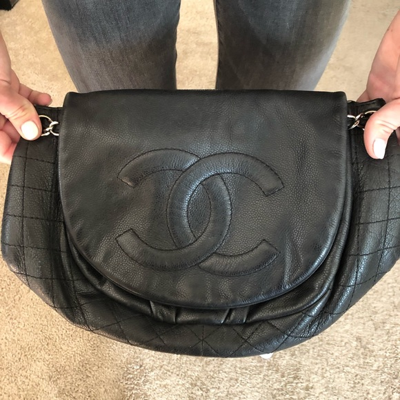 130b9a6a2301d8 CHANEL Handbags - Chanel Caviar Half Moon Leather Bag